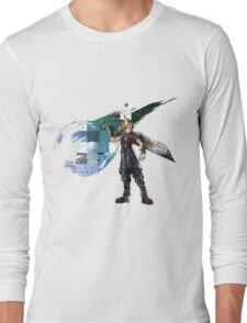 Cloud Strife Gridwork design & logo Long Sleeve T-Shirt