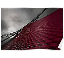 Red Steel Sail Art Poster