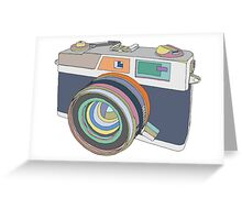 Vintage old photo camera Greeting Card