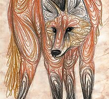 Maned wolf by Calista Douglas