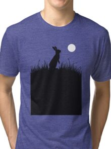 Moonlit Rabbit Tri-blend T-Shirt