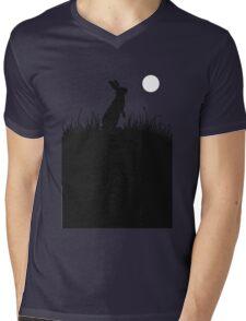 Moonlit Rabbit Mens V-Neck T-Shirt