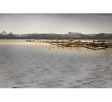 Cloudy sky on the lagoon -1 Photographic Print