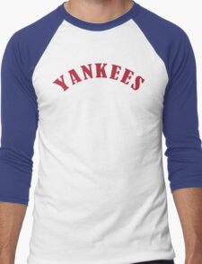 Boston Yankees Funny Geek Nerd Men's Baseball ¾ T-Shirt
