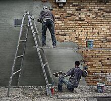 the plasterers by Matt Mawson