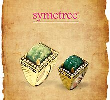 Carved Emerald Ring - Symetree by SymetreeIND