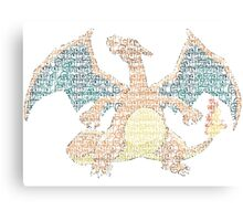 Charizard Typography Canvas Print