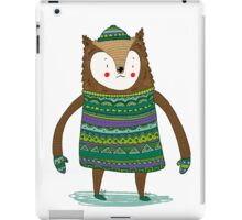 Retro Winter Bear iPad Case/Skin