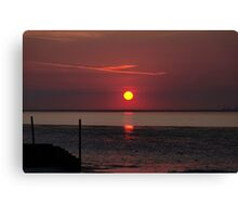 Sunset Over The Hampshire Coast Canvas Print