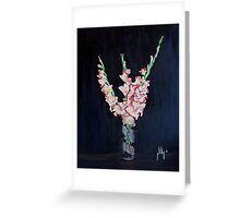 A Cutting of Gladiolas Greeting Card