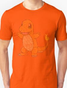 Charmander Typography T-Shirt