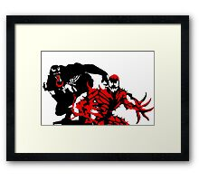 Venom & Carnage double silhouettes  Framed Print
