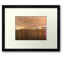 icons in the rain Framed Print