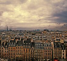 View from the Pompidou by Clare Waller