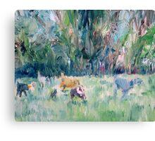 RUNNING DOGS Canvas Print