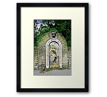 Main Well Dressing, Rowsley 2011 Framed Print