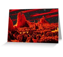 Asteroids over Colorado Greeting Card
