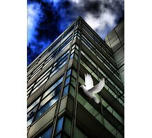 Heavens Above (A Tribute To Rene Magritte) Photographic Print