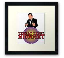 Threat Level Midnight Framed Print