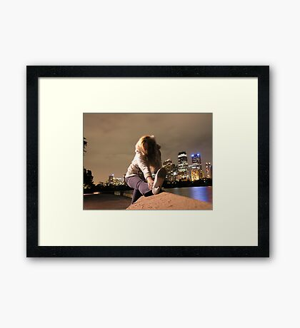 high heels Framed Print