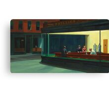 Nighthawks by Edward Hopper 1942 Canvas Print