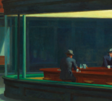 Nighthawks by Edward Hopper 1942 Sticker