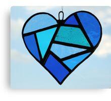 "Love Heart ""Blues"" Canvas Print"