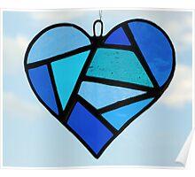 "Love Heart ""Blues"" Poster"