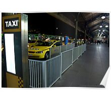 Flinders St Station Taxi Rank Poster