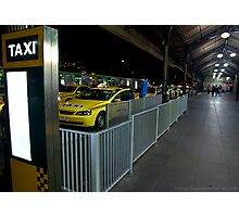 Flinders St Station Taxi Rank Photographic Print