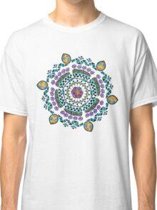 Ornamental Vibrant Floral Mandala Classic T-Shirt