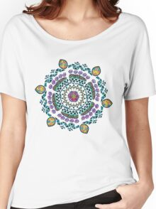 Ornamental Vibrant Floral Mandala Women's Relaxed Fit T-Shirt