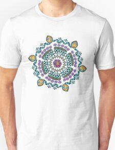 Ornamental Vibrant Floral Mandala Unisex T-Shirt
