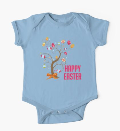 Happy Easter One Piece - Short Sleeve