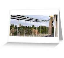 Clifton Observatory being observed from Brunel's Clifton Suspension Bridge Greeting Card