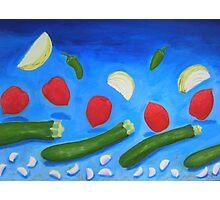 Zucchini Wave Photographic Print