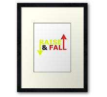 Raise & Fall Framed Print