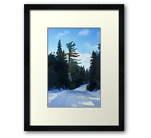 Winter Mood Impressions - Snowy Road in Algonquin Framed Print