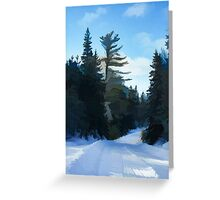 Winter Mood Impressions - Snowy Road in Algonquin Greeting Card