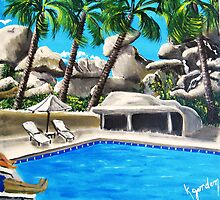 Hangin By The Pool by WhiteDove Studio kj gordon