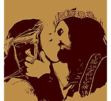 Aragorn and Arwen Kiss Photographic Print