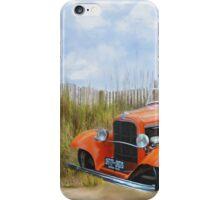 Historic Car on the Beach iPhone Case/Skin
