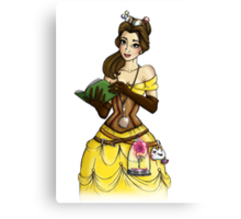 Steampunk Belle - Beauty and the Beast Canvas Print
