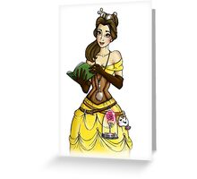 Steampunk Belle - Beauty and the Beast Greeting Card
