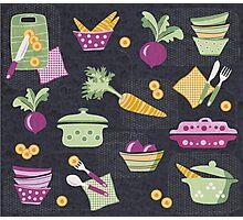Cooking Veggie Pattern Photographic Print