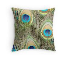peacock tail Throw Pillow