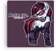 Ante Up - Augmented V2 Canvas Print
