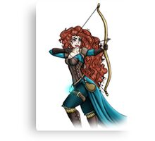 Steampunk Merida - Brave Canvas Print
