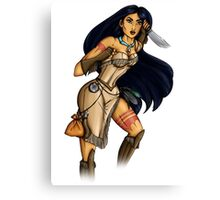 Steampunk Pocahontas Canvas Print