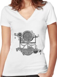 Daily Grind Machine Women's Fitted V-Neck T-Shirt